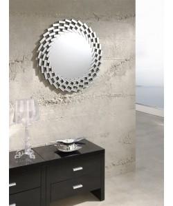 Espejo CITY de pared, cristal, 78x78 cms