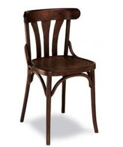 Silla de madera de haya Rf. 31525, asiento madera barnizada.