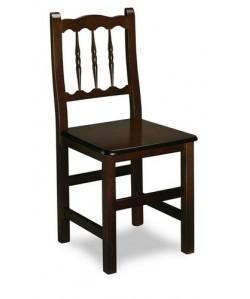 Silla de madera de haya Rf. 315105, asiento madera barnizada.