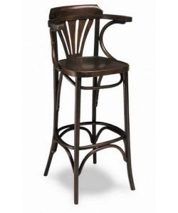 Taburete Rf. 315235, madera de haya, asiento madera, barnizado.