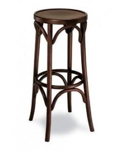 Taburete Rf. 315255, madera de haya, asiento madera, barnizado.