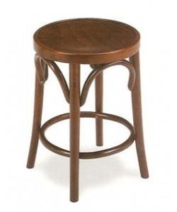 Banqueta Rf. 315265, madera de haya, asiento madera, barnizado.