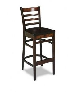Taburete Rf. 315275, madera de haya, asiento madera, barnizado.