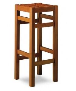 Taburete Rf. 315205, madera de haya, asiento enea, barnizado.