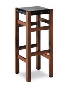 Taburete Rf. 315205, madera de haya, asiento cuero sintético, barnizado.
