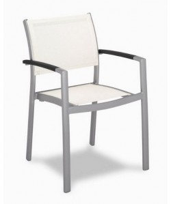 Sillón de aluminio Rf. 3152675, textilene de color blanco
