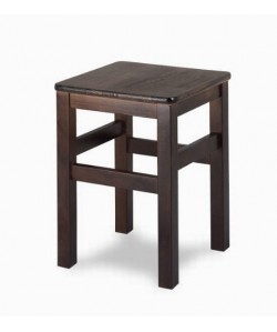 Taburete Rf. 315195, bajo, madera de haya, asiento madera barnizada.