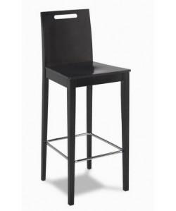 Taburete 315285, asiento madera barnizada.