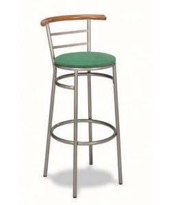 Taburete Rf. 3155135, asiento tapizado