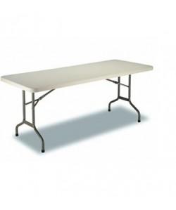 Mesa plegable Rf. 3153115, armazón acerado, tapa de polietileno, 182X74 cms