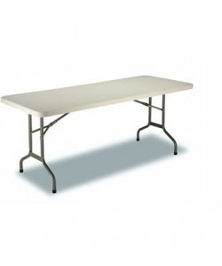 Mesa plegable Rf. 3153115, armazón acerado, tapa de polietileno, 200X90 cms