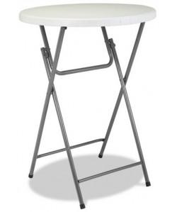 Mesa plegable alta Rf. 3153115, armazón acerado, tapa de polietileno, 80 cms. diámetro
