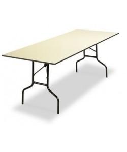 Mesa plegable Rf. 3153125, armazón acerado, tapa de melamina, 240X80 cms