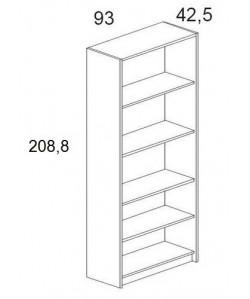 Armario alto con estantes, 93x42,5x208,8 cms. Color a elegir.