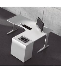 Mesa forma 180x120 cms, -derecha o izquierda-. Color a elegir.