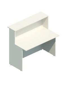 Mostrador de recepción Mod.200, 120x74x115. Color blanco