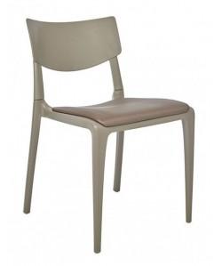 Silla Town Pad, apilable, polipropileno, asiento tapizado.