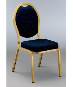 Silla OPA, aluminio lacada dorado,tejido azul o burdeos
