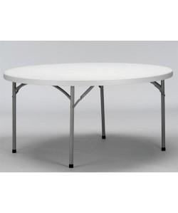 Mesa plegable BETTY, armazón metálico, tapa de polietileno, 180 cms