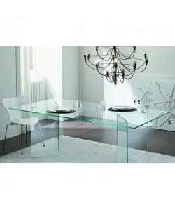 Mesa NICOLE, cristal, 200 x 120 cms