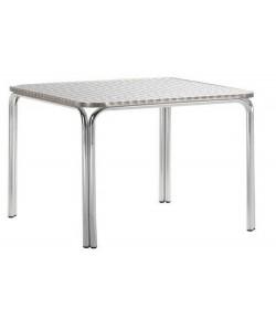 Mesa de aluminio, 28515495, doble tubo, tapa inox. 120X70 cms.*