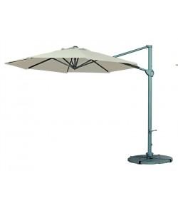 Parasol MINI-ELECTRA, lateral, giratorio, aluminio, tejido 300x300 cms.