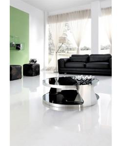 Mesa MB207, baja, acero inoxidable, cristal, 90 cms* Pequeñas imperfecciones