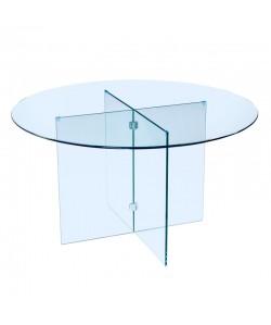 Mesa MARSA, cristal, 137 cms. de diámetro