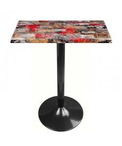 Mesa CRISS, negra, tapa de 70 x 70 cms. Color a elegir