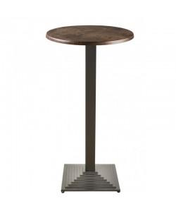 Mesa ELBA, alta, negra, tapa de 60 cms. Color a elegir