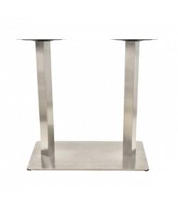 Base de mesa COPACABANA, acero inoxidable, 70*40*72 cms, pulido satinado