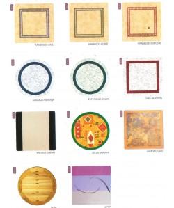 Carta de colores de werzalit grupo DUO para marca PR-1
