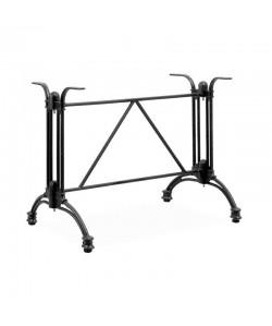 Base de mesa EIFFEL NEW, rectangular, aluminio, negra, altura 70 cms