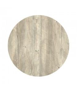 Tablero de mesa Werzalit Alemania, PONDEROSA BLANCO 178, 70 cms de diámetro*.
