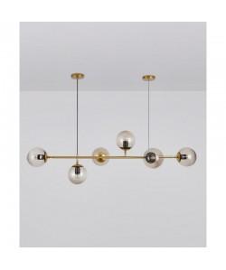 Lámpara ALHENA, colgante, metal, cristal, 6 luces