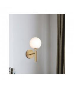Lámpara PORTIA, aplique, metal, tulipa blanca