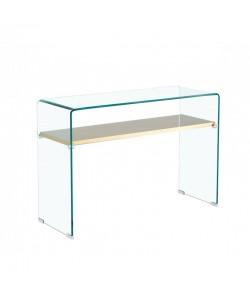 Consola POITIERS, estante, cristal, 110 x 40 cms