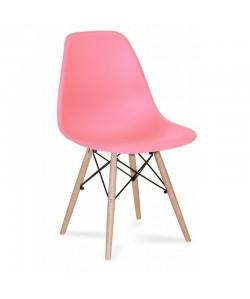 Silla TOWER PP, madera, polipropileno rosa pink