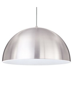 Lámpara LUCY, colgante, pantalla aluminio interior blanco