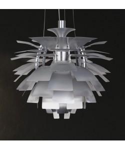 Lámpara ARTIC, aluminio, plata, 48 cms. de diámetro