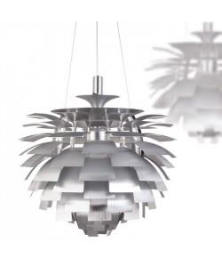 Lámpara ARTIC, aluminio, plata, 70 cms. de diámetro
