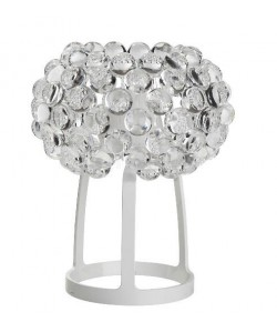 Lámpara ITALICA 35, sobremesa, acrílica, transparente, 35 cms de diámetro