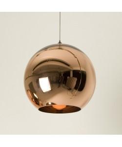 Lámpara HUGO, colgante, cristal, color cobre, 25 cms de diámetro