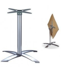 Base de mesa GATHER, abatible, 4 brazos, aluminio fundido, altura 68 cms.