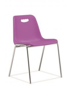 Silla CARCASA, con asidero, cromada, violeta