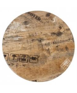 Tablero de mesa Werzalit Alemania, EX WORKS 122, 70 cms de diámetro*.