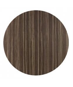 Tablero de mesa Werzalit Alemania, SAFARI BROWN 76, 70 cms de diámetro*.