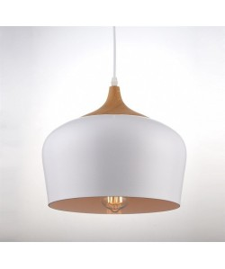 Lámpara CROCK, colgante, metal, pantalla blanca