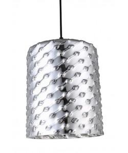 Lámpara SENDA, colgante, cristal plata