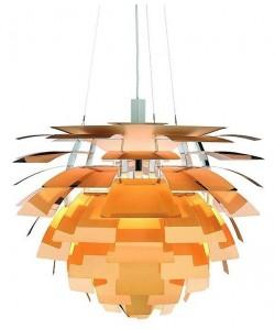 Lámpara ARTIC, aluminio, dorada, 48 cms. de diámetro
